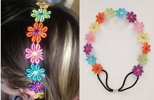 COLORATO pizzo Daisy Fiore Cerchietto Hairband floreale elasticizzati donna regalo