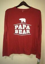 Target Papa Bear Christmas Family Pajama Shirt Top Long Sleeve Size Small  New eb6537751
