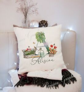 personalised Alphabet gardening cushion/mug/cup/coaster gift