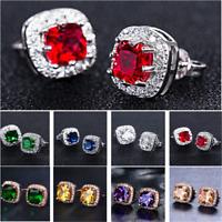 Charm Fashion Stud Earrings for Women 925 Silver Birthstone Jewelry Earrings