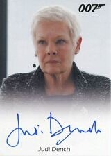 James Bond Archives 2017 Full Bleed Autograph Card Judi Dench As M