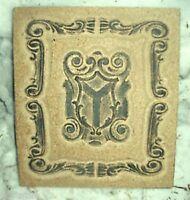 Roman shield plaque/stepping stone plastic mold