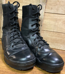 Magnum Classic Black Leather Lightweight Ex-Police Patrol Boots Size 5 UK- Used