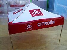 Cd92 Diorama CITROEN WRC servizio tenda ROSSO e BIANCO in plastica e metallo 4 poli ad angolo