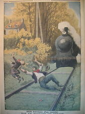 SAINT-JEAN-DU-VAR TRAIN CHEMINOT SAUVETEUR Gal LASALLE LE PETIT JOURNAL 1913