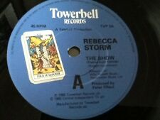 "REBECCA STORM . THE SHOW ( TV THEME FROM CONNIE ) . 1985 . MINT UNUSED 7"" vinyl"