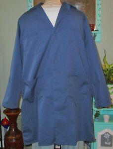 "Best Medical Men L/S Lab Coat Snaps 4 Pockets 38"" Length Navy Sz Small (38)"