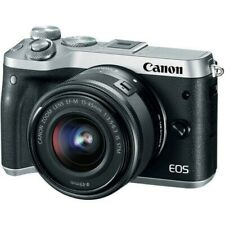 USED CANON EOS M6 Mirrorless Digital Camera with 15-45mm Lens SILVER 4549292084