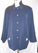 Dialogue Navy Blue Sport Coat Blazer 22W 22 W Plus Nwt New Twinstretch Stretch