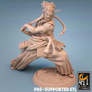 Samurai Miniature D&D DnD Pathfinder RPG