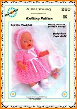 DOLLS KNITTING PATTERN no. 260 for BABYBORN.by VAL YOUNG