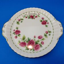 "Royal Albert Flower of the Month Chrysanthemum November Cake Plate 10 1/4"""