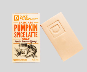Duke Cannon Pumpkin Spice Latte Basic Ass Brick of Soap for Men 10 oz Made USA