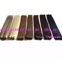 100% Human Hair Weft 100g bundles Brazilian stright hair extensions100g 15colors