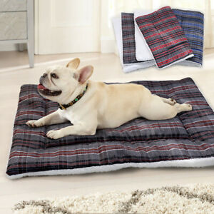 Fleece Dog Bed Kennel Crate Cushion Mat Cover Sleeping Blanket for Large Dogs