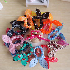 10PCS Fashion Girls Bunny Ear Headband Rabbit Ear Hair Band Bow Tie Mix Colors