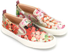 Gucci SHANGAI women's slip on fashion sneakers in floral print leather