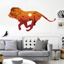 Lion Giraffe Zebra Silhouette 3D Wall Stickers Wallpaper Decals For Living Room
