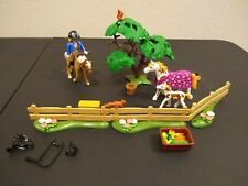 PLAYMOBIL 5227 Country Paddock with Horses Foal tree riding accessories lot set
