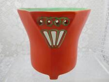 Vintage Royal Bayreuth~ Devil or Tomato Red Art Deco Style Vase/ Holder~Bavaria
