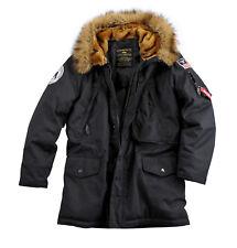 "ALPHA INDUSTRIES ""Polar Jacket"" | Black (123144) Herren Winterjacke mit Kapuze"