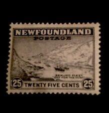 Newfoundland SG 288 1943 25c Slate Mounted Mint .