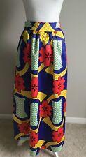 Women's Maxi Sateen Skirt ~Mardi Gras~Party~ Costume~ Caribbean~Floral~ M~ NWOT