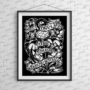 All Or Nothing Art Print - wall Alternative Sailor Jerry tattoo nautical Anchor
