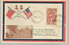 1937 Wedding Day cover Keviii Monts to Neuilly France Sc Sp16 50c+10c