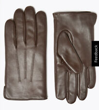 Men Leather Gloves With Thermowarmth Brown Size L