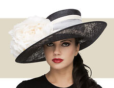 NWT AUTH PHILIP TREACY LARGE UPTURN SPRING SUMMER KENTUCKY DERBY HAT