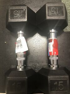 weider 15 lb. hex dumbbell X2 30lb Total