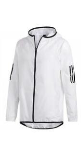 NWT$65 Adidas Men's Full-Zip Wind Jacket DU1962 White Size XL