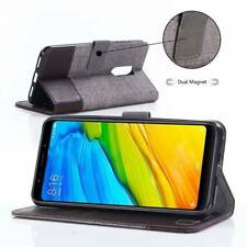 For Xiaomi Smart Phones, Unique Flip Canvas Leather Wallet Stand Soft Case Cover