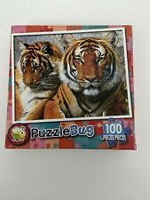 """NEW 100 Piece Jigsaw Puzzle Sealed Box 9"""" x 11"""" Puzzlebug, Mother Tiger And Cub"""