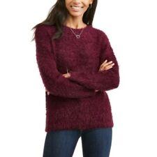 02d65d2f155 Faded Glory Women s Eyelash Pullover Sweater Size XXL (20) Merlot Wine