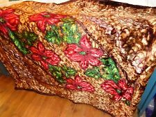 """Stunning Vintage Buggy/Carriage Blanket by Stroock, 64"""" x 52"""", Heavy/Well Made"""