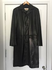 New Gianni Versace Couture Men's Lambskin Black Leather Coat IT 52 UK 42 US 42
