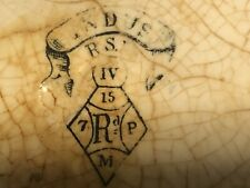 "Antique (1877) Ridgway Sparkes Ridgway ""Indus"" Blue & White Bowl"