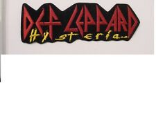 """set of 2 Large Def Leppard Vintage Iron Patch """"Hysteria"""" Official Licensed-8.5"""""""