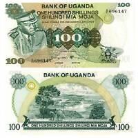 Pick 9c Uganda 100 Shillings 1973  Unc. / 6159582vvv