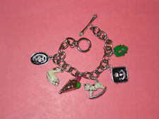JUICY COUTURE Charm Bracelet ~ Ice Cream Cone ~ Swan ~ Frog ~ Rocking Horse