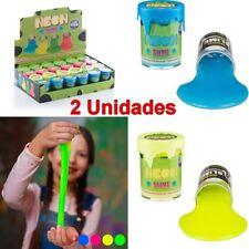 2 Unidades Juego juguete infantil niños masa viscosa fluorescente Neon, +3 Años