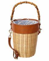 J.Mclaughlin Erin Bucket Straw Bag Women's Brown
