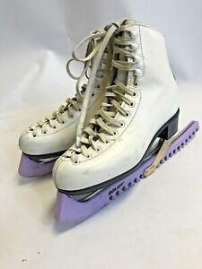 Risport Womens Ice Skates Leather Off White Lace Up Size Eur 39/UK 6     B11