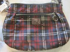 Coach Plaid Purse/Handbag~Red White Blue Plaid~New~LBDLG