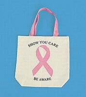 24 Pink Ribbon Cure Breast Cancer Awareness Tote Bags ( 2 dozen) wholesale