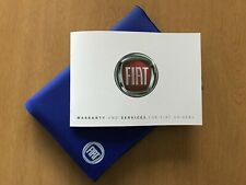 BRAND NEW GENUINE FIAT SERVICE BOOKS COVERS ALL CARS AND VANS DOBLO FIAT 500..