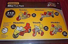 413p Stanley Erector Set Motorcycles Scooter Rickshaw Bike Toys age 8+ NIB