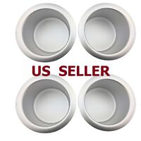 US SHIP 4 PCS Jumbo Aluminum Poker Table Cup Holders Silver
